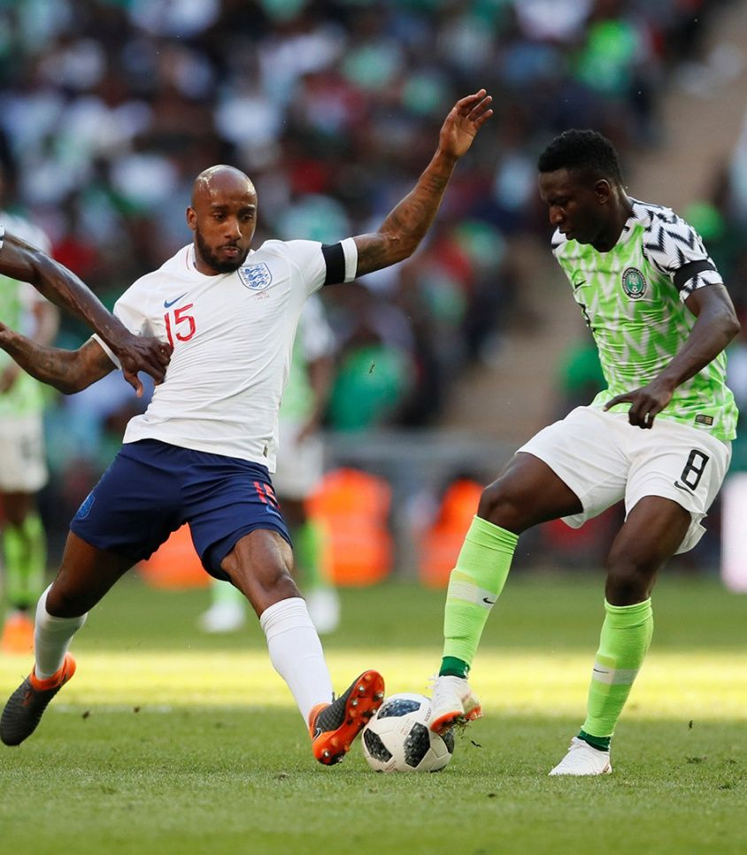 Soccer Football – International Friendly – England vs Nigeria – Wembley Stadium, London, Britain – June 2, 2018   England's Fabian Delph in action with Nigeria's Oghenekaro Etebo                    REUTERS/David Klein