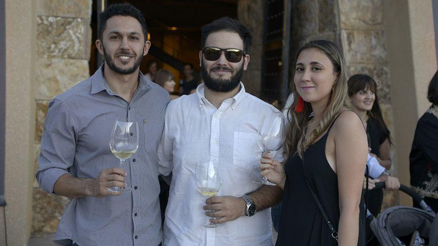 Gabriel Abal, Ignacio Borras y Steffi Kannak.