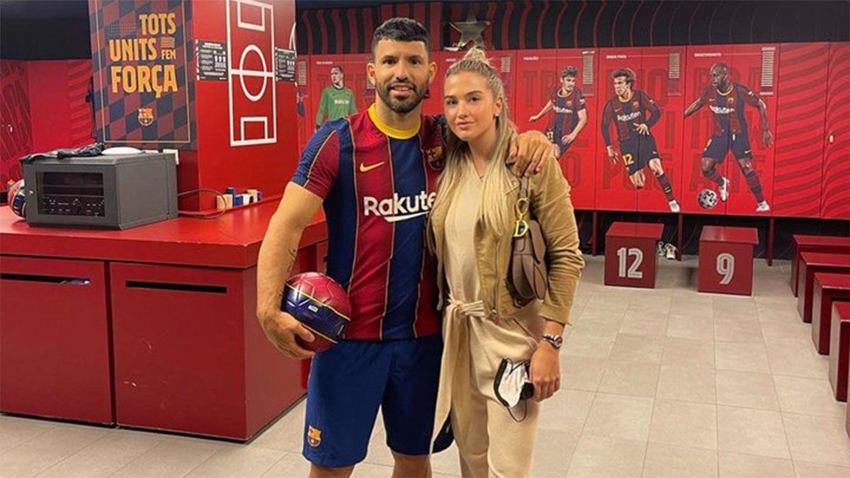 ¡Genial! El posteo de la novia del Kun Agüero tras el pase al Barcelona