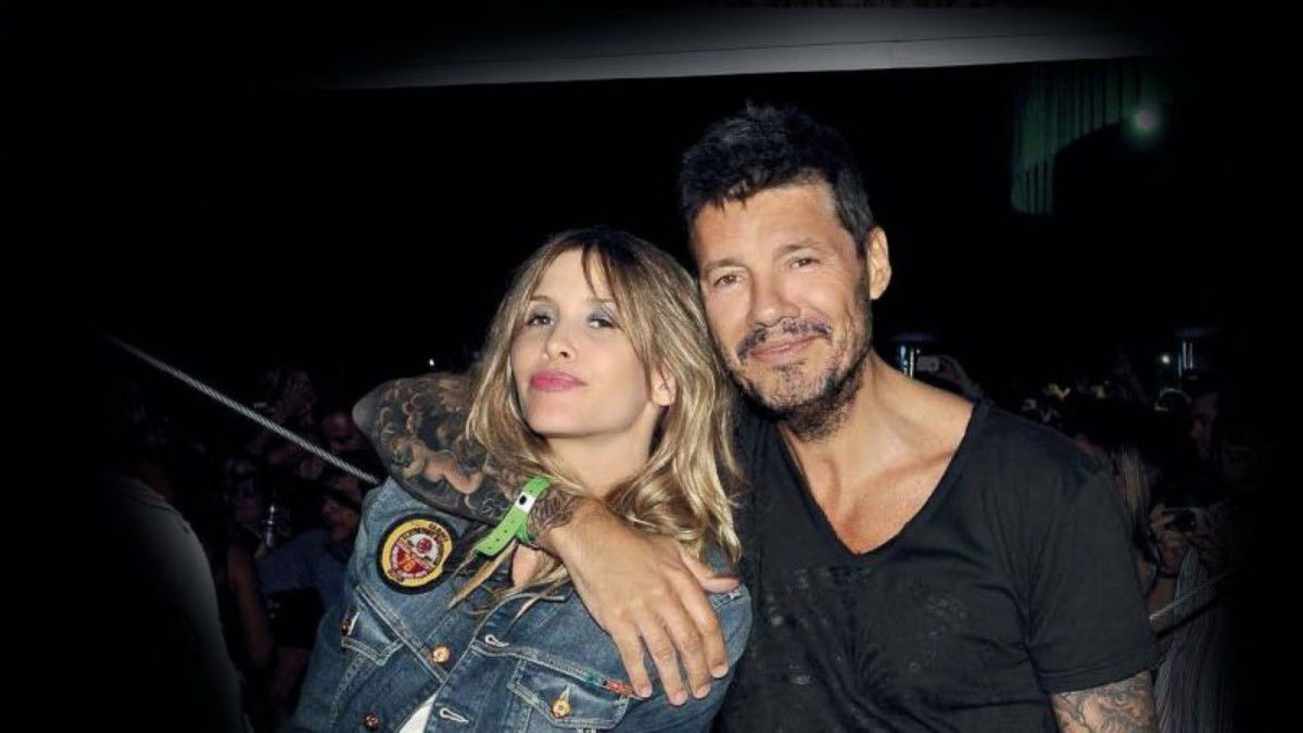 Guillermina Valdés y Marcelo Tinelli.