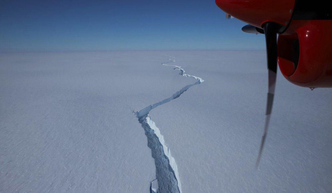 La enorme plataforma de hielo que se ha desprendido de la Antártida representa en superficie al doble de la ciudad de Madrid