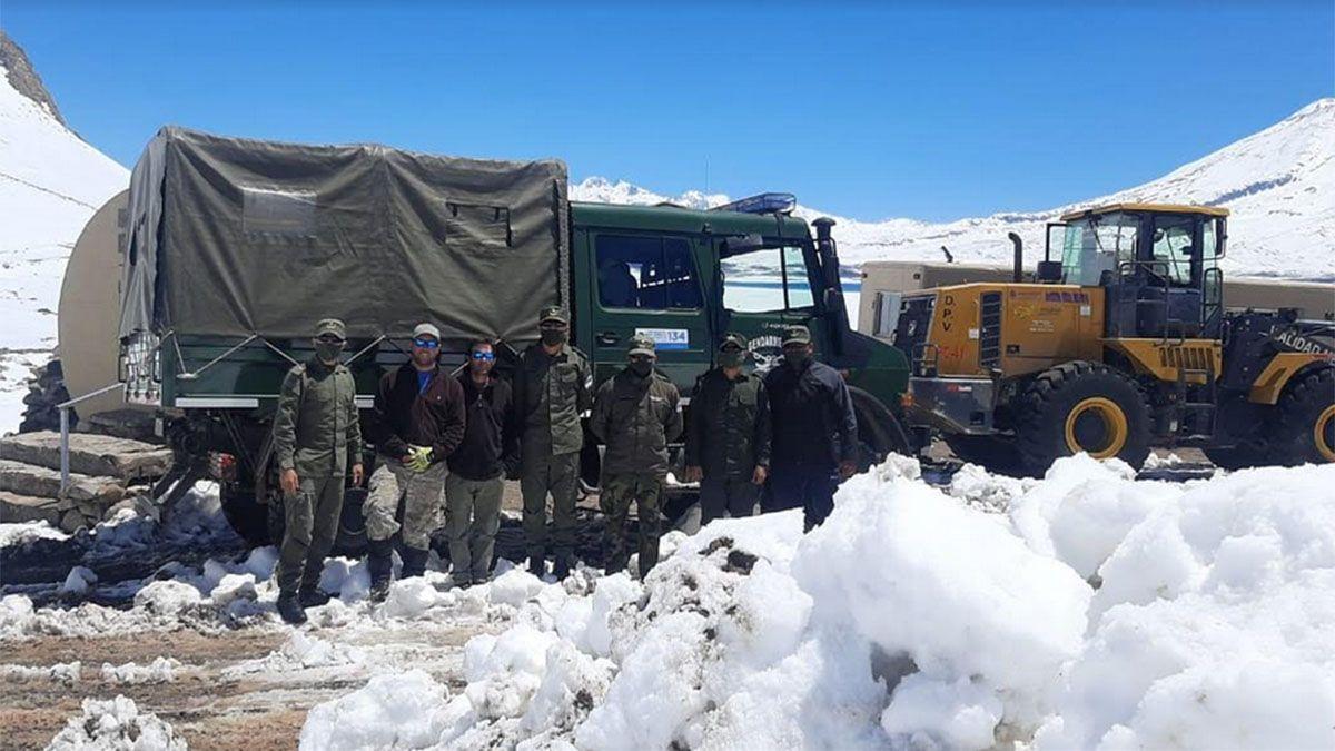 Los nueve turistas varados por la nieve estaban en perfecto estado de salud