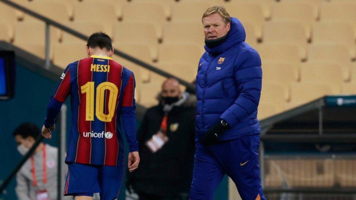 Koeman defendió a Messi: Veo mala intención y ganas de hacerle daño