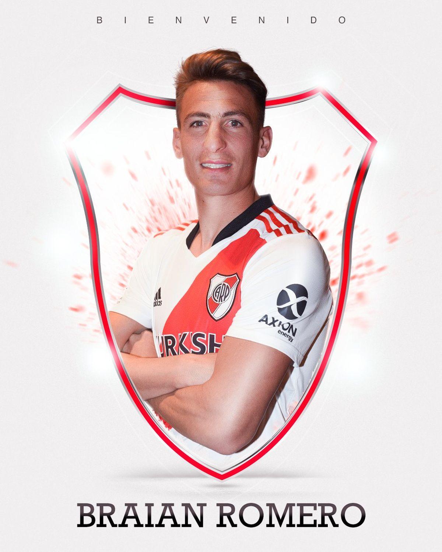 Así anunció River la llegada de Braian Romero.