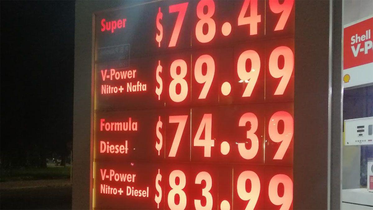 Shell aumentó los precios de sus combustibles