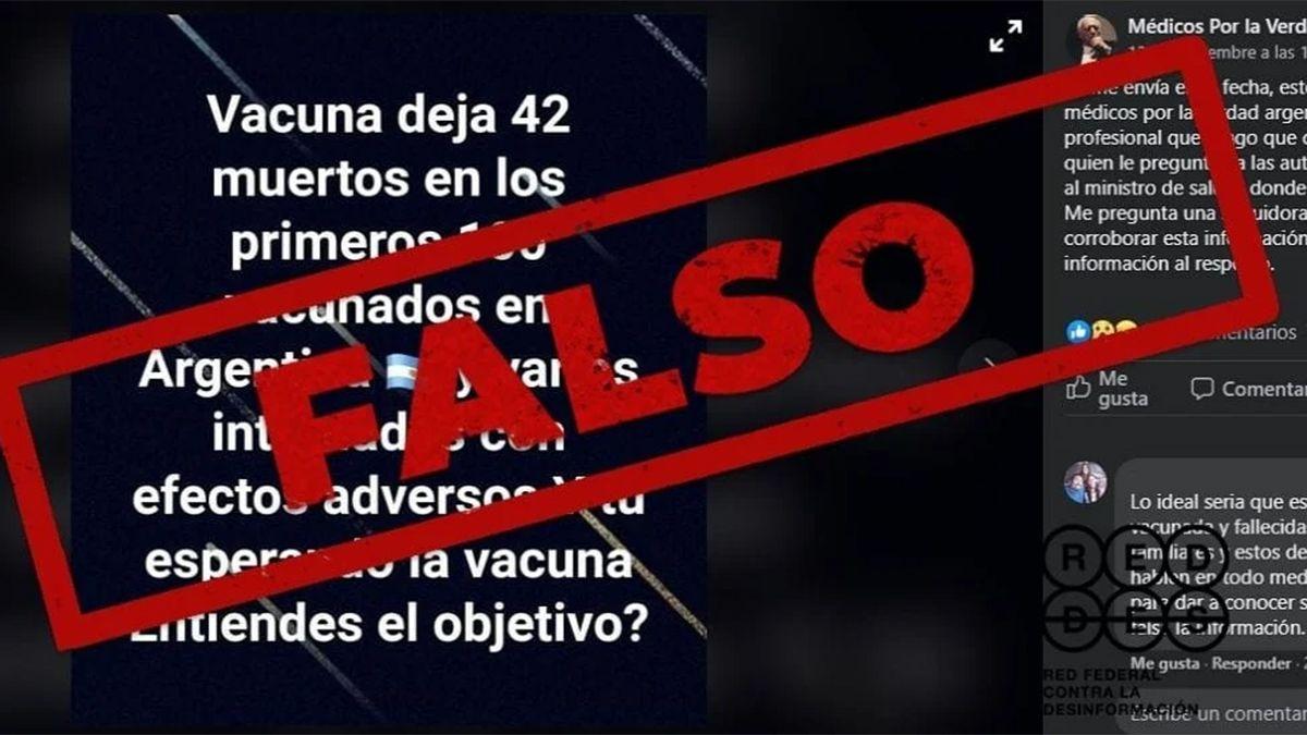La ANMAT aseguró que no hay reportes de muertes entre quienes se aplicaron vacunas.