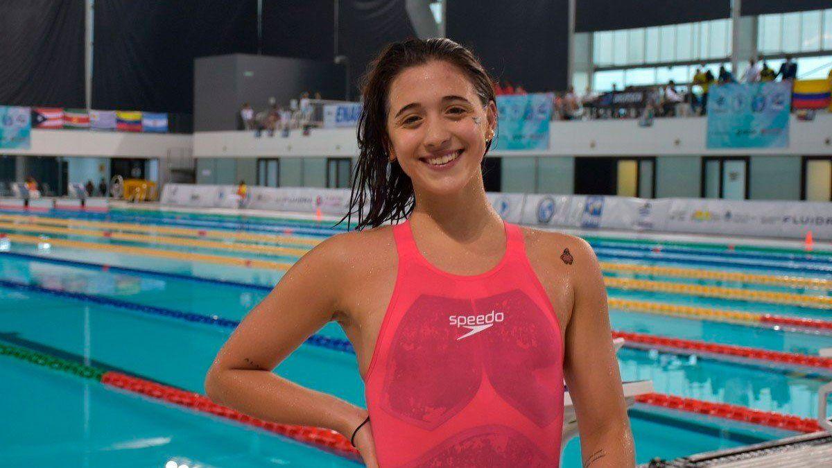 Delfina Pignatiello logró oro en los 400 metros libres