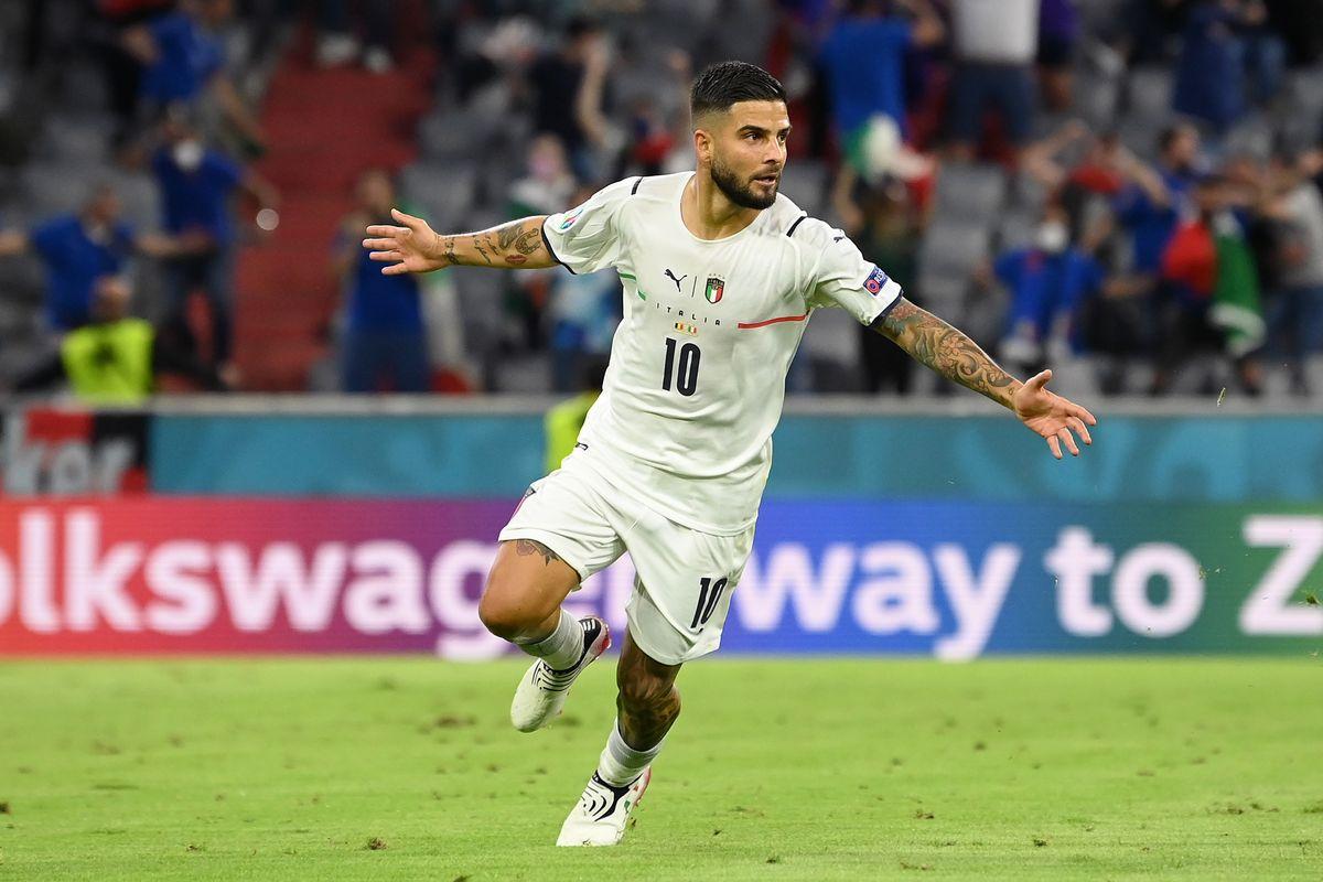 Insigne marcó uno de los goles de Italia, semifinalista de la Eurocopa.