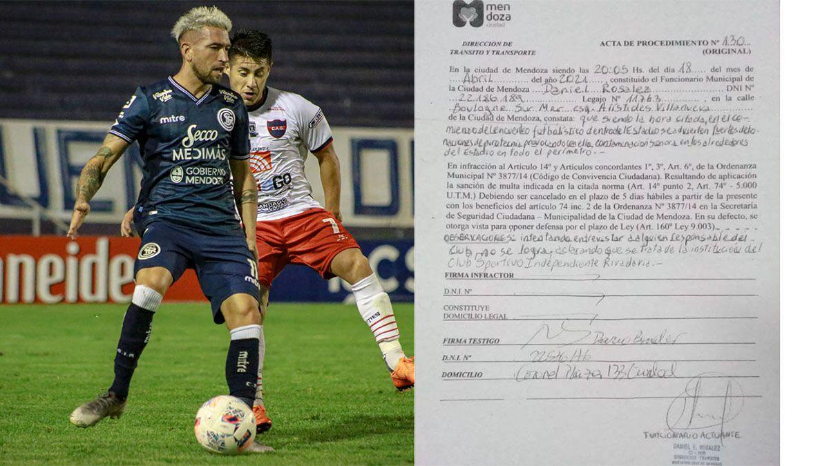 Independiente Rivadavia recibió una multa inesperada