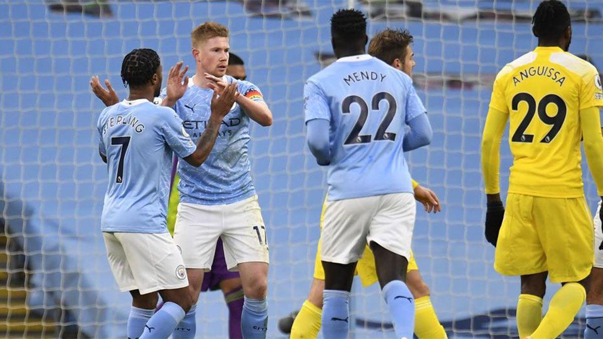 Manchester City, sin el Kun Agüero, venció al Fullham