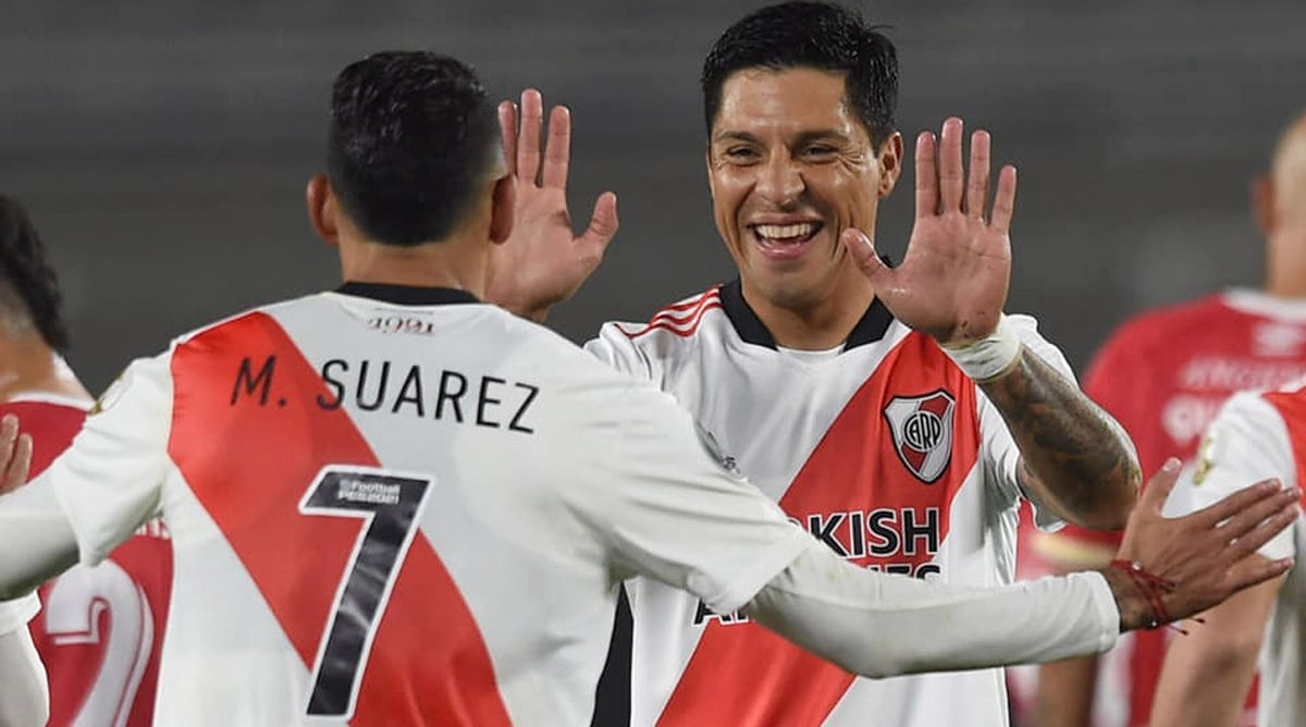 Enzo Pérez fue muy elogiado por Flor Peña.