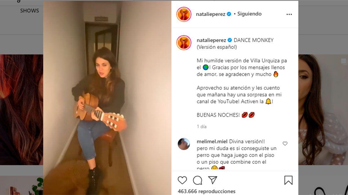 Natalie Pérez se defendió tras ser acusada de hacer playback