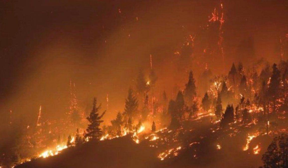 Los incendios en la Patagonia.