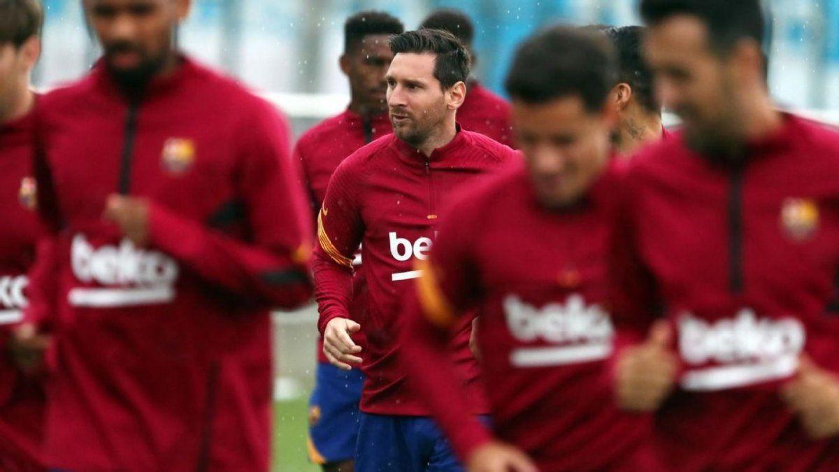 Messi sería suplente en el Barcelona por la Liga