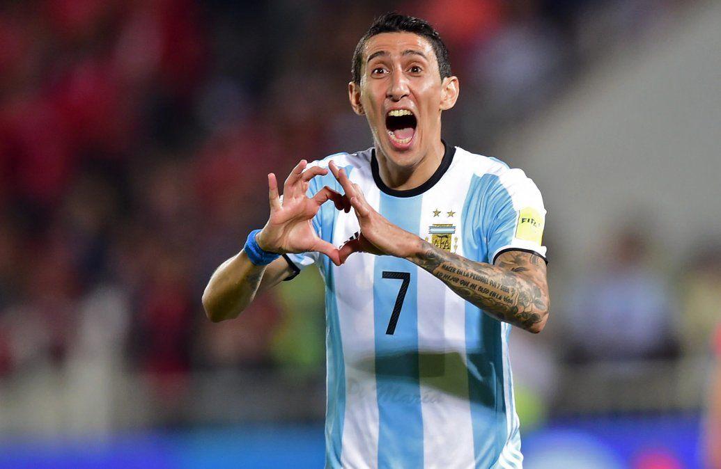 Di María tiene 102 partidos y 20 goles en la selección argentina.