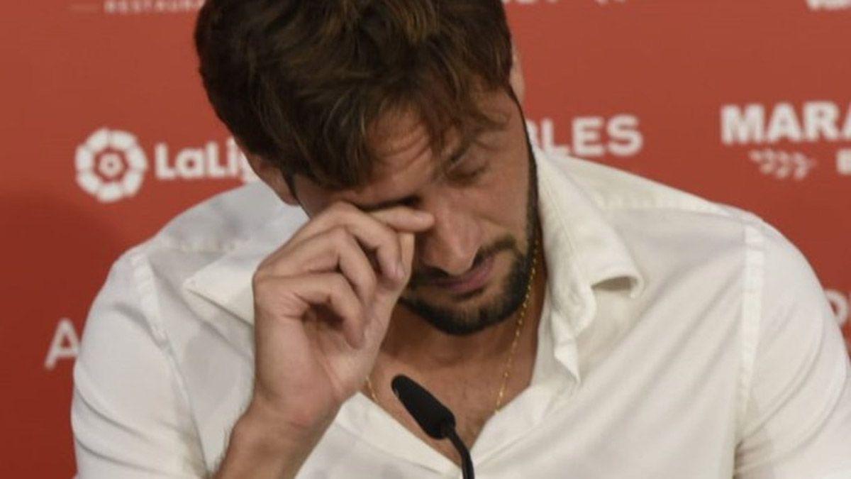 El Mudo Vázquez rompió en llanto al despedirse del Sevilla
