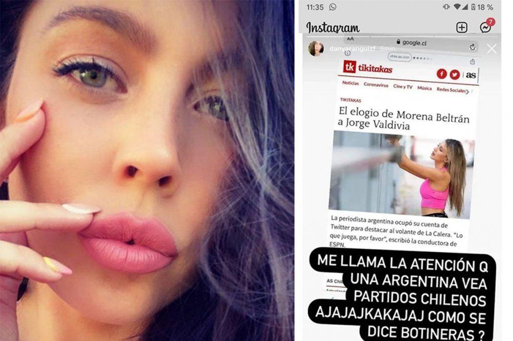 Morena Beltrán fue atacada por la esposa de un jugador
