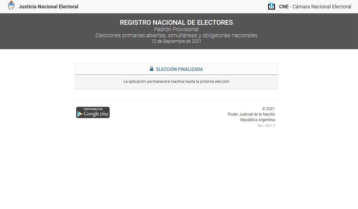 Elecciones 2021: cómo consultar el padrón electoral para las PASO 2021 y las Elecciones Legislativas 2021. Dónde voto.