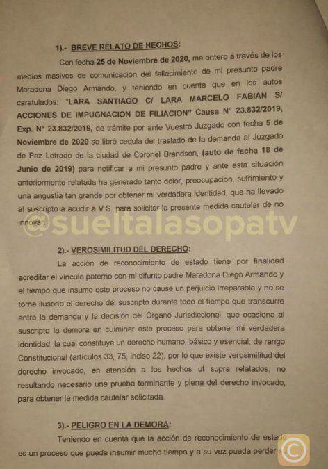 Quién es Santiago Lara, el joven que pidió la exhumación del cuerpo de Maradona