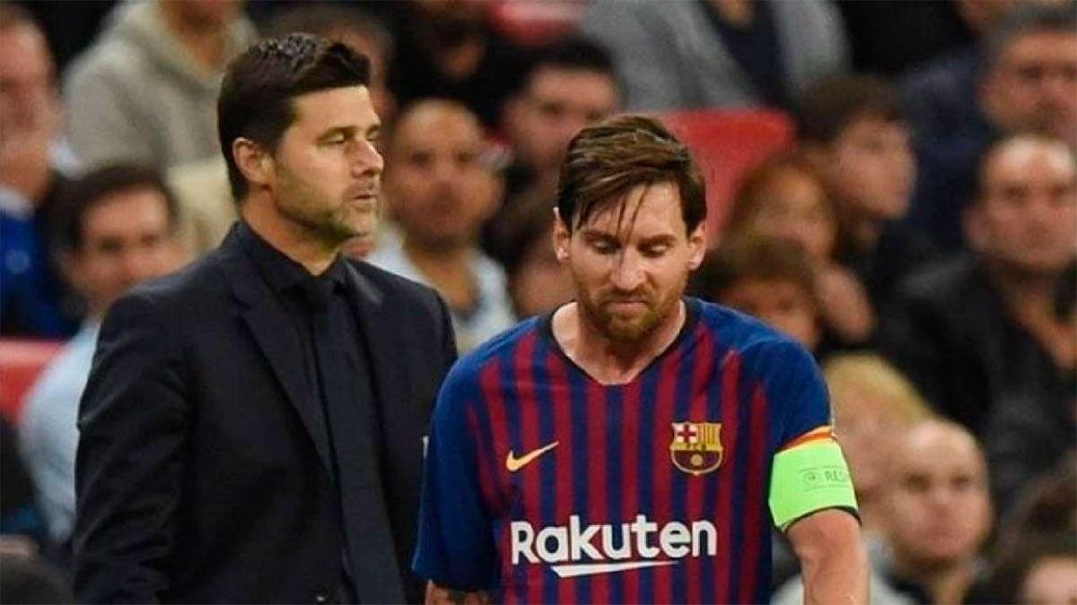 Pochettino, atento a la situación de Messi en Barcelona