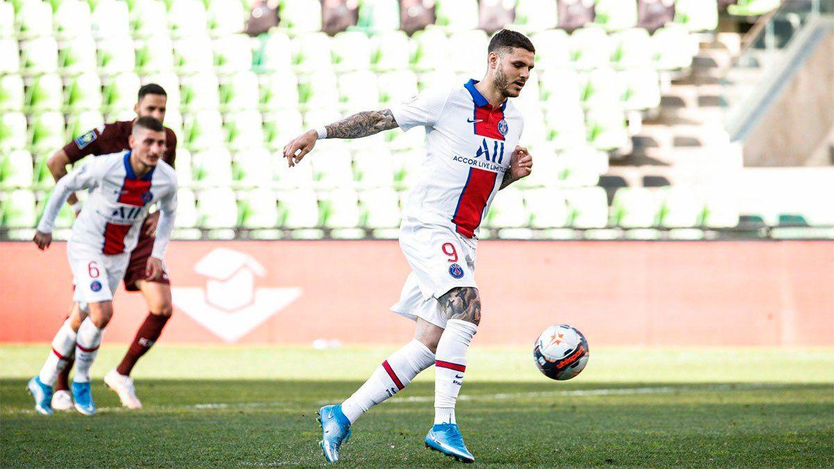 Mauro Icardi marcó un golazo de penal para el PSG