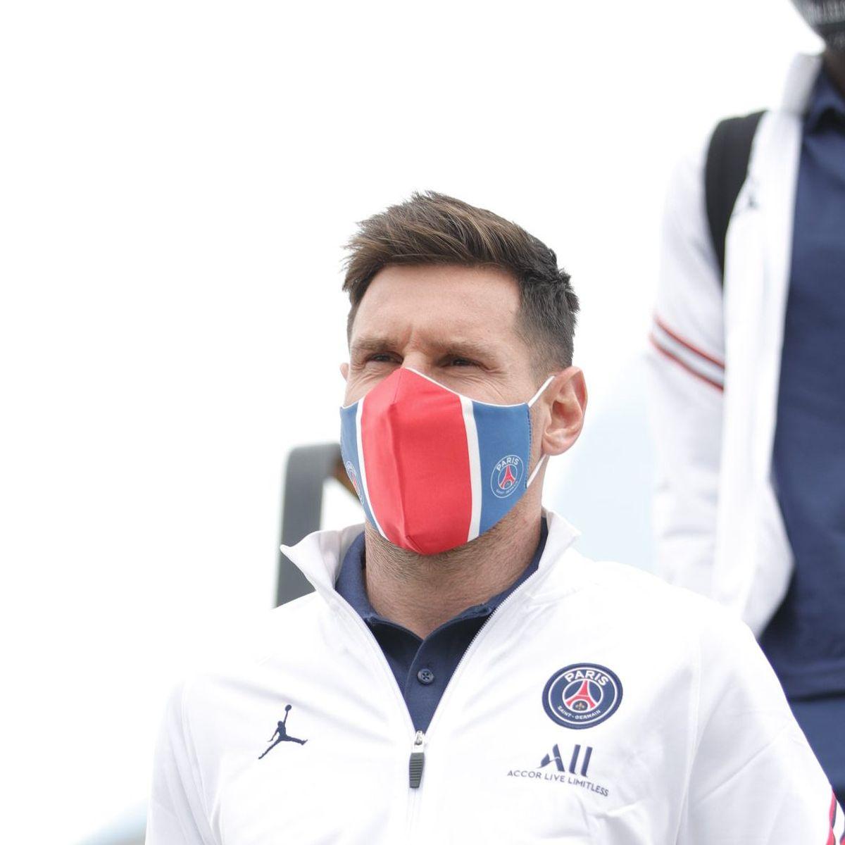 Lionel Messi llegó a Bélgica con el PSG para debutar en la Champions League.