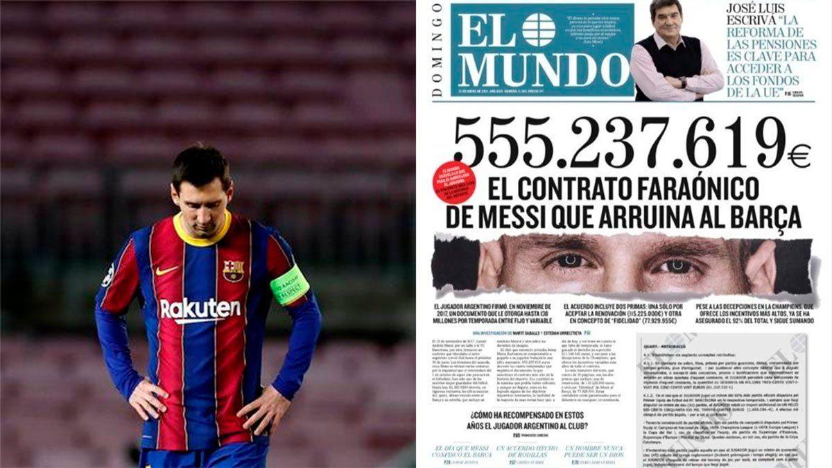 Messi irá contra los sospechosos de filtrar su contrato