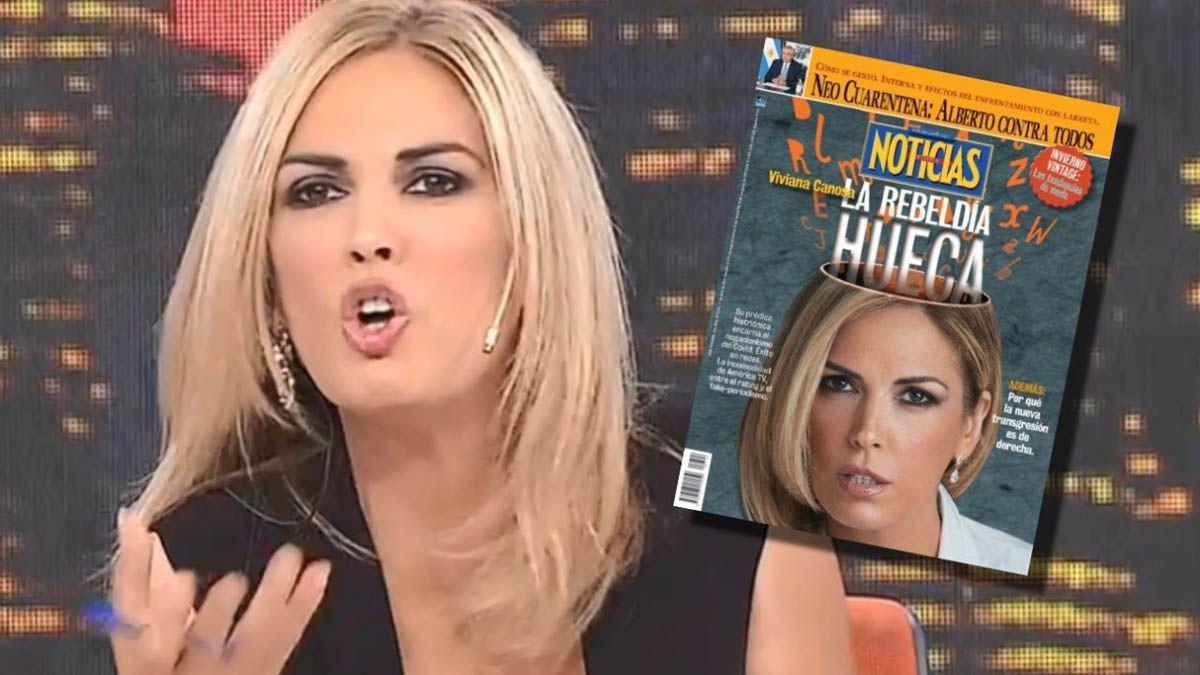 Viviana Canosa refutó la versión que la revistaNoticiasdio de ella
