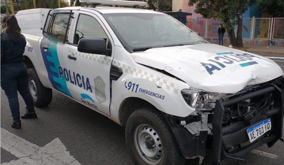 La mujer policía que manejaba la patrulla policial que atropelló y mató al matociclista de 21 años