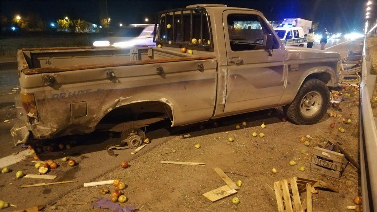 Un accidente en Acceso Sur y calle Rawson