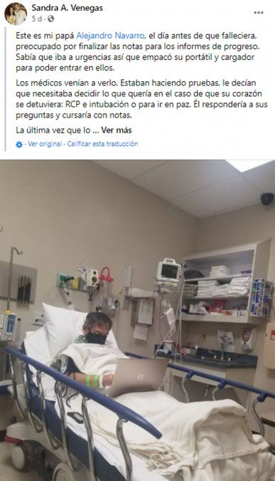 La historia del profesor que murió en el hispital corrigiendo las evaluaciones de los alumnos