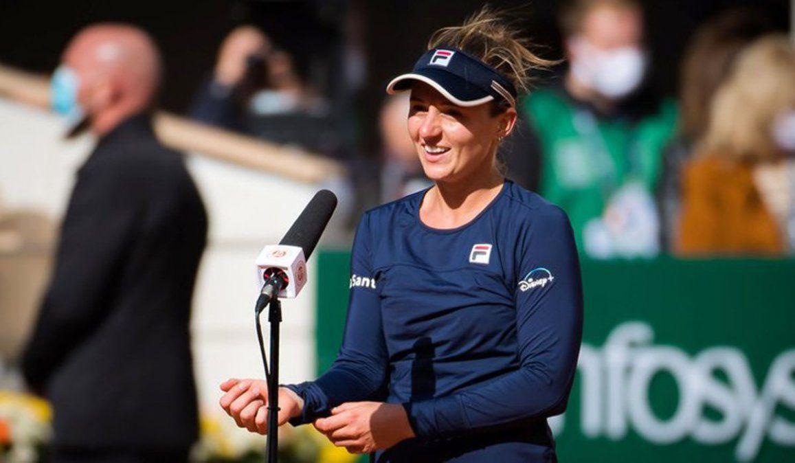 Nadia Podoroska es la 17ma argentina en ser top 50 del tenis mundial.
