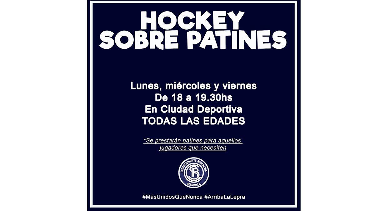 Independiente Rivadavia busca jugadores de hockey