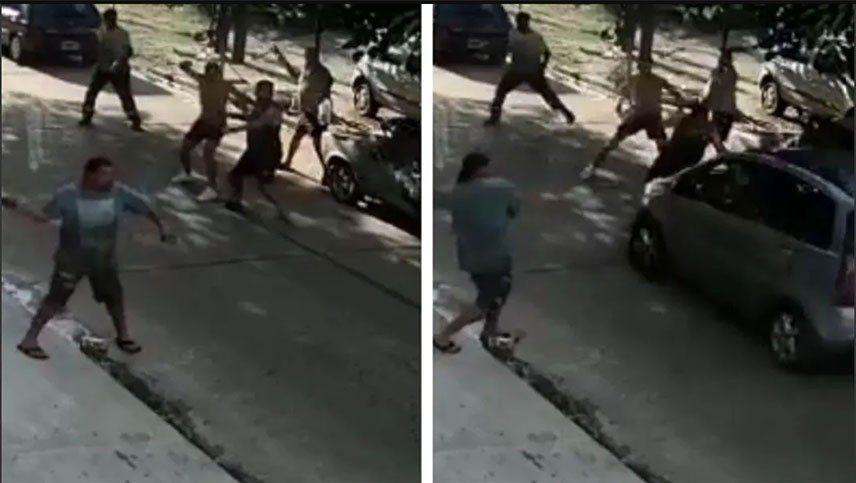 Video: apuñaló a un conductor de Uber, le robó el auto y atropelló a un hombre que quiso detenerlo a piedrazos