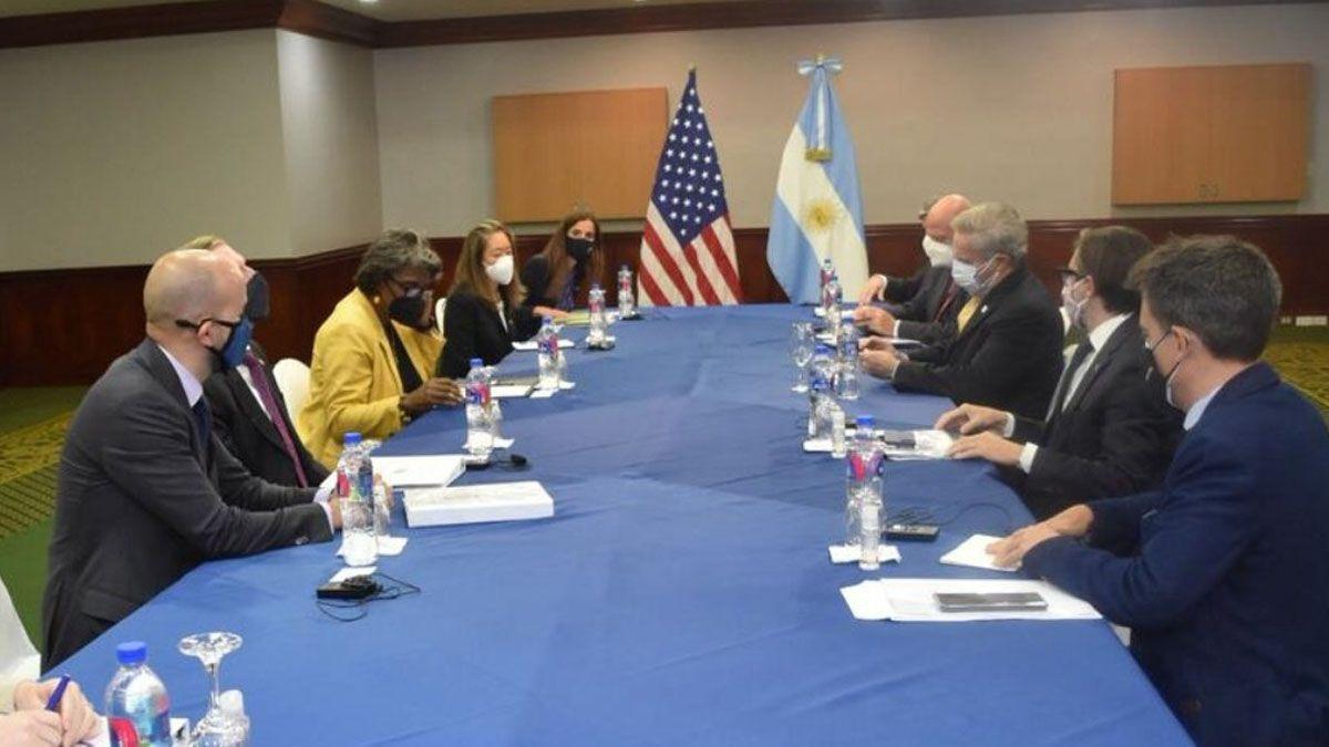 La reunión entre autoridades de Estados Unidos y Argentina de la que participó Felipe Solá.