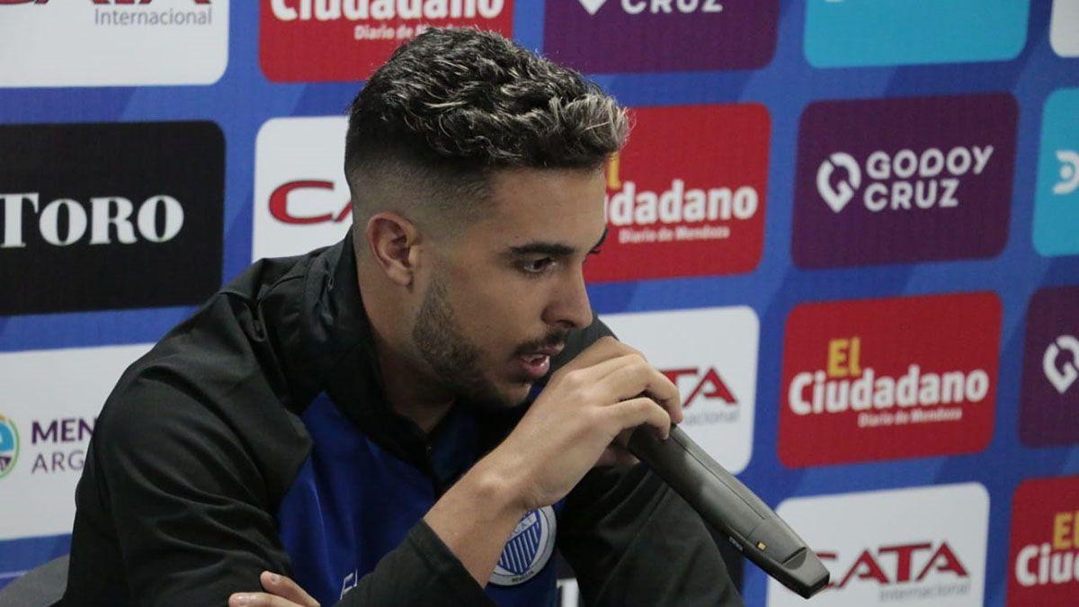El volante Martín Ojeda habló después del triunfo ante el Pincha. (Fotos Prensa Godoy Cruz).