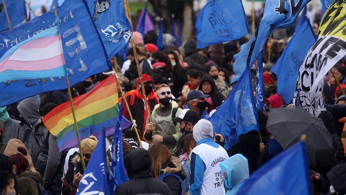 Cristina Kirchner durante el acto del cierre de la campaña nacional del Frente de Todos por las PASO 2021.