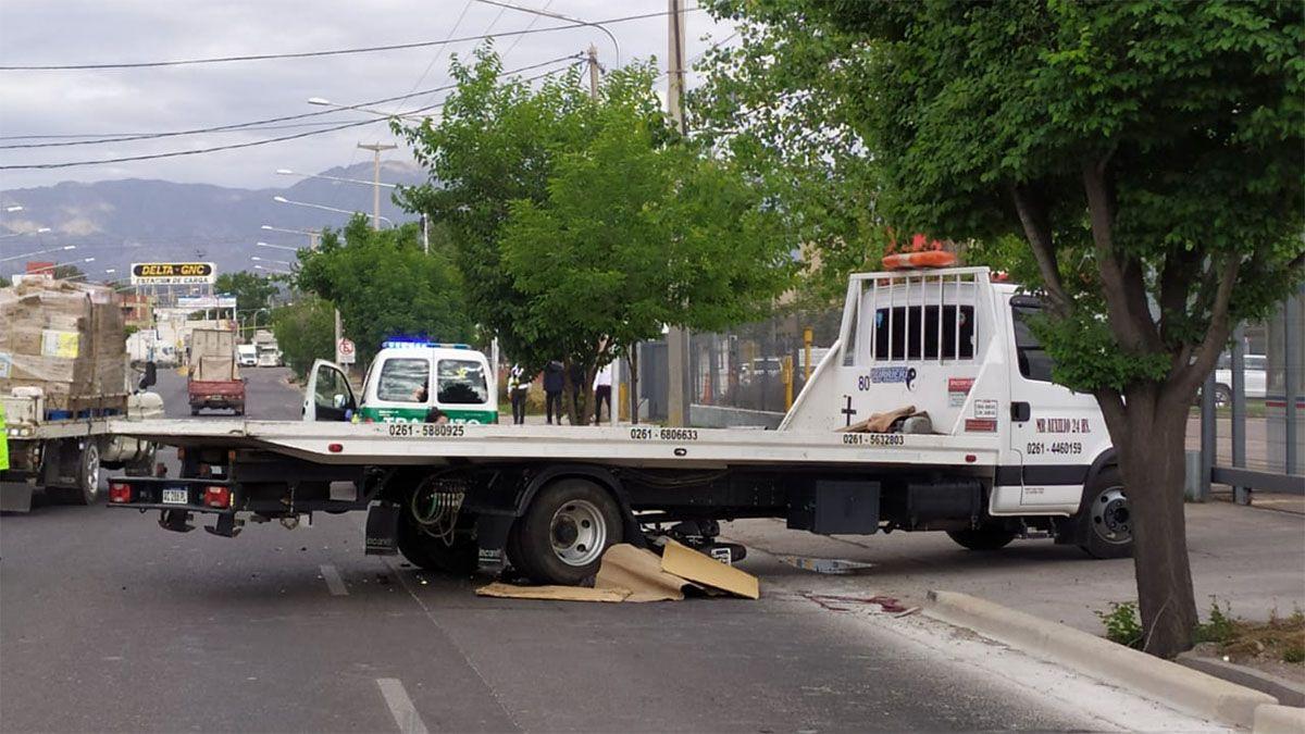 Un motociclista murió en un accidente en Godoy Cruz