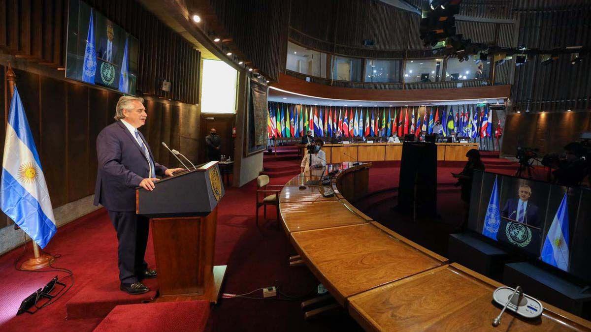 El presidente Alberto Fernández rechazó las declaraciones del canciller chileno