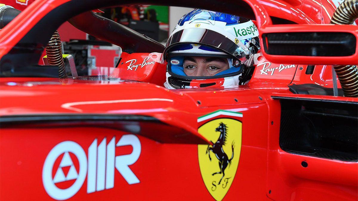 El hijo de Jean Alesi probó una Ferrari por primera vez