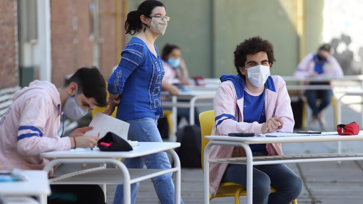 Clases prenciales en Buenos Aires durante la pandemia.
