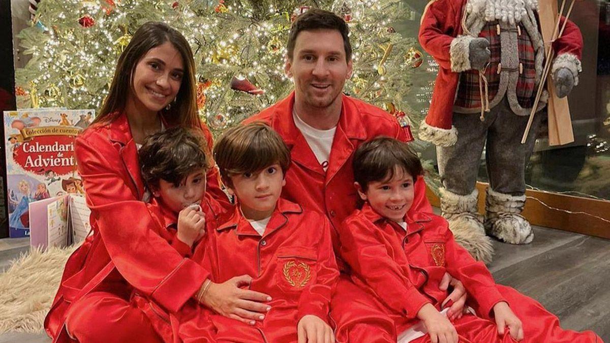 Los Messi y una hermosa foto de Navidad