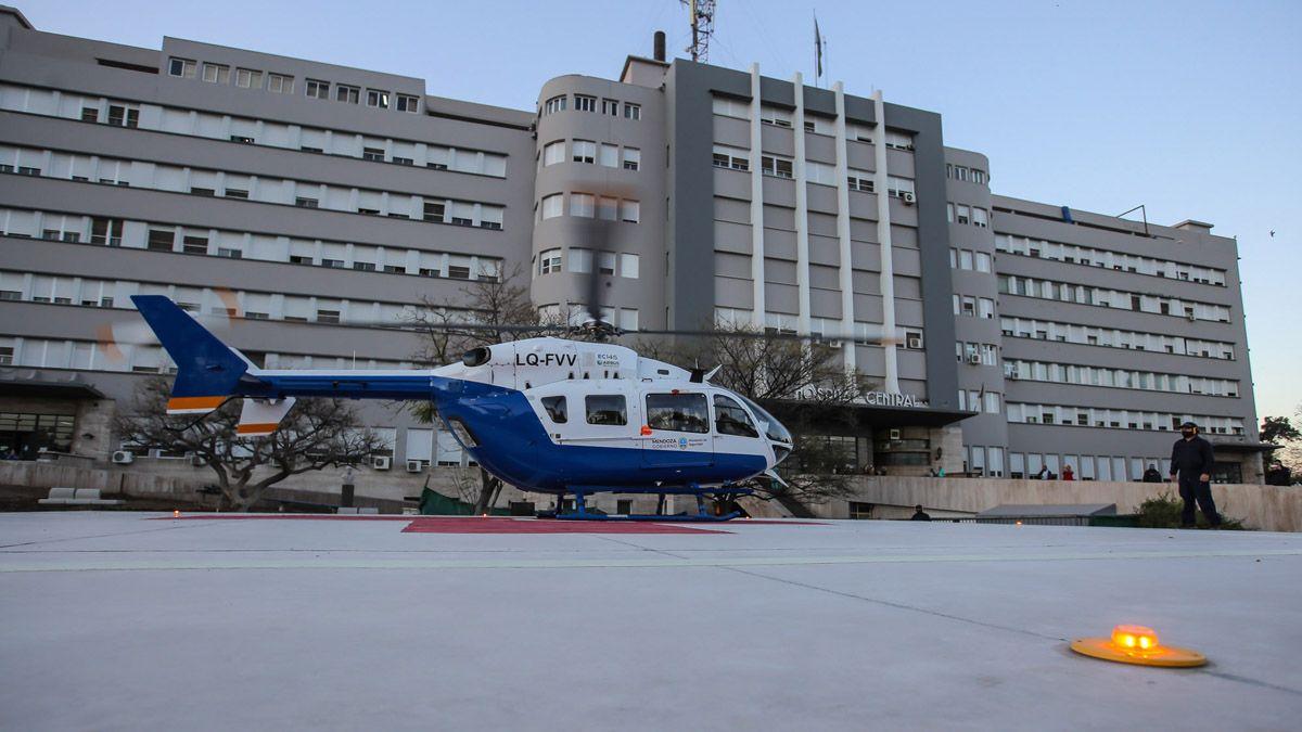 El Hospital Central. Refuncionalizarán la zona de terapia para los casos de coronavirus en Mendoza.