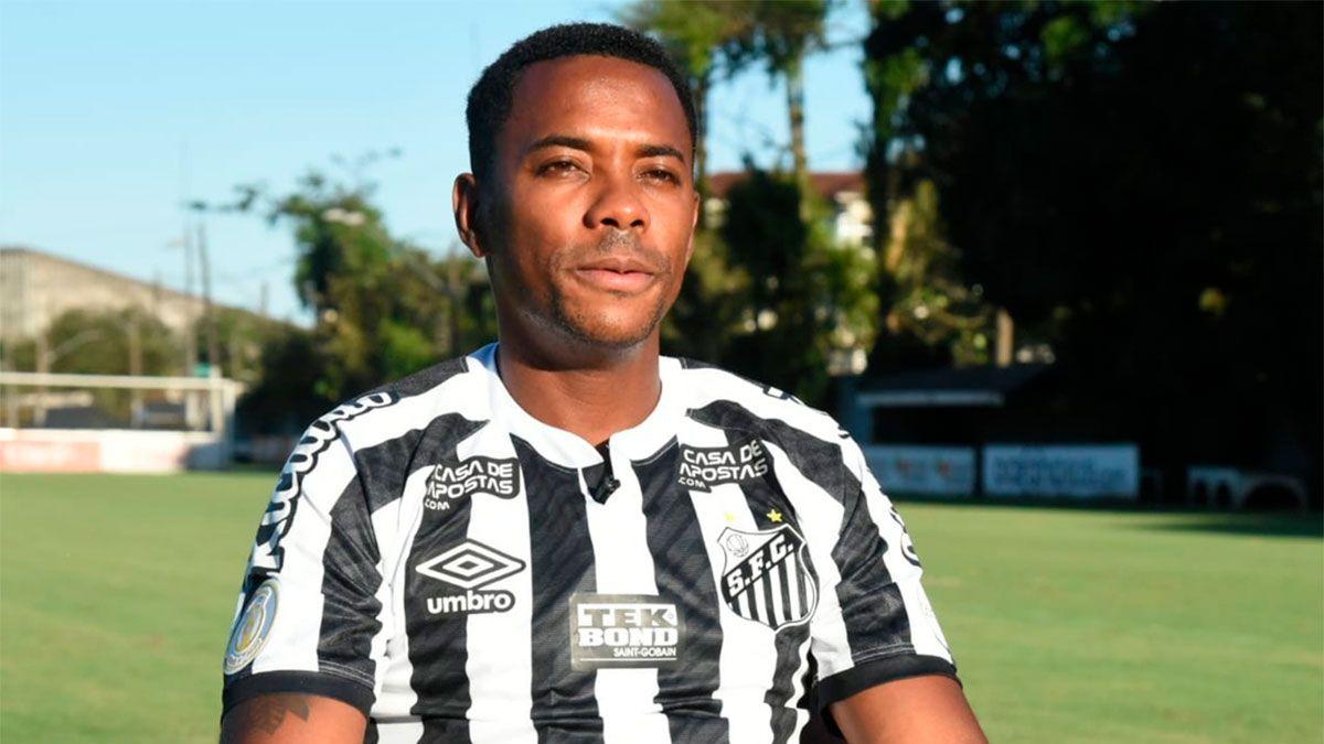 Robinho duró un suspiro en el Santos