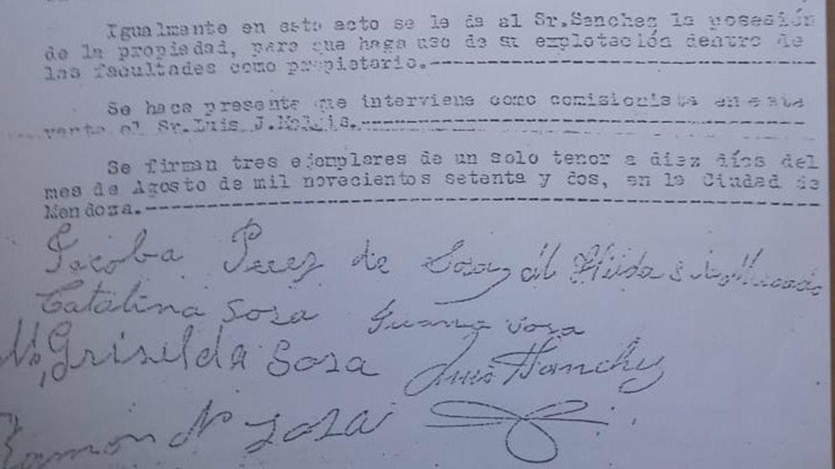 Boleto de compra venta en favor de los imputados en el caso Tránsito Donoso