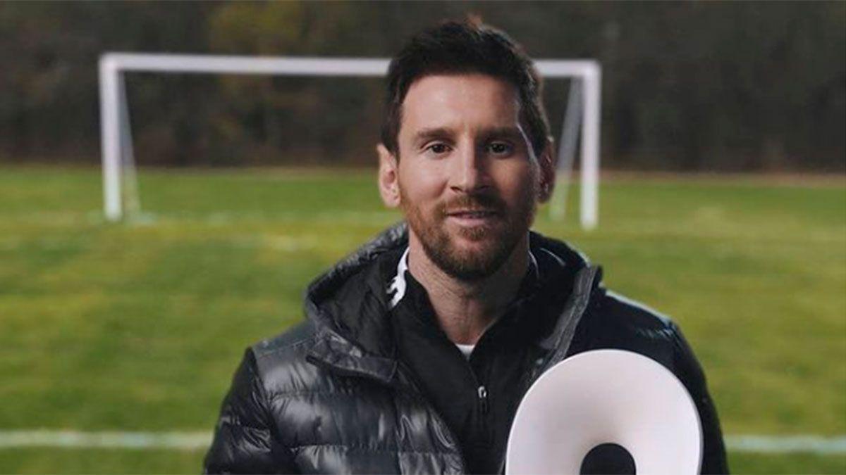 Lionel Messi fue galardonado como Campeón de la Paz 2020