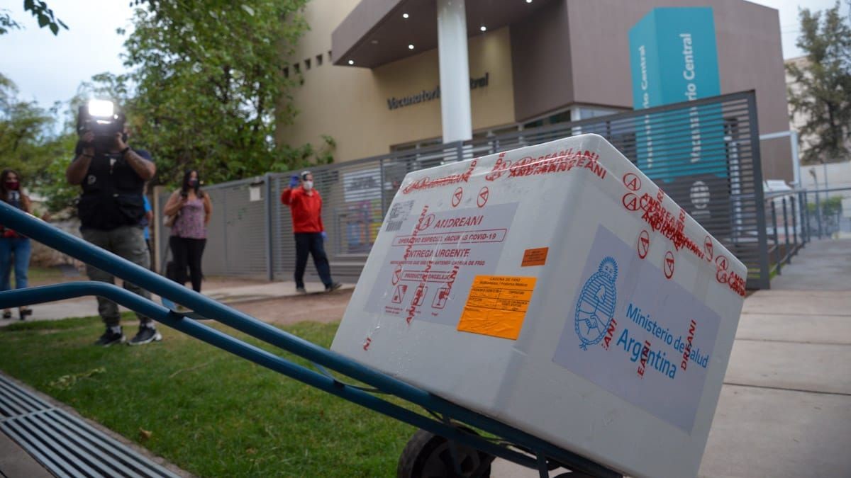 Este lunes llegó la vacuna rusa a Mendoza.