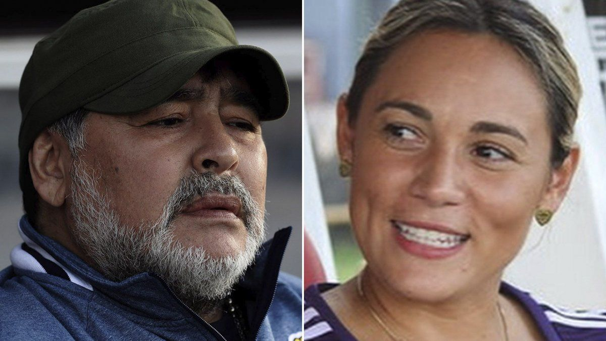 Rocío Oliva recordó a Diego con una foto en un boliche.