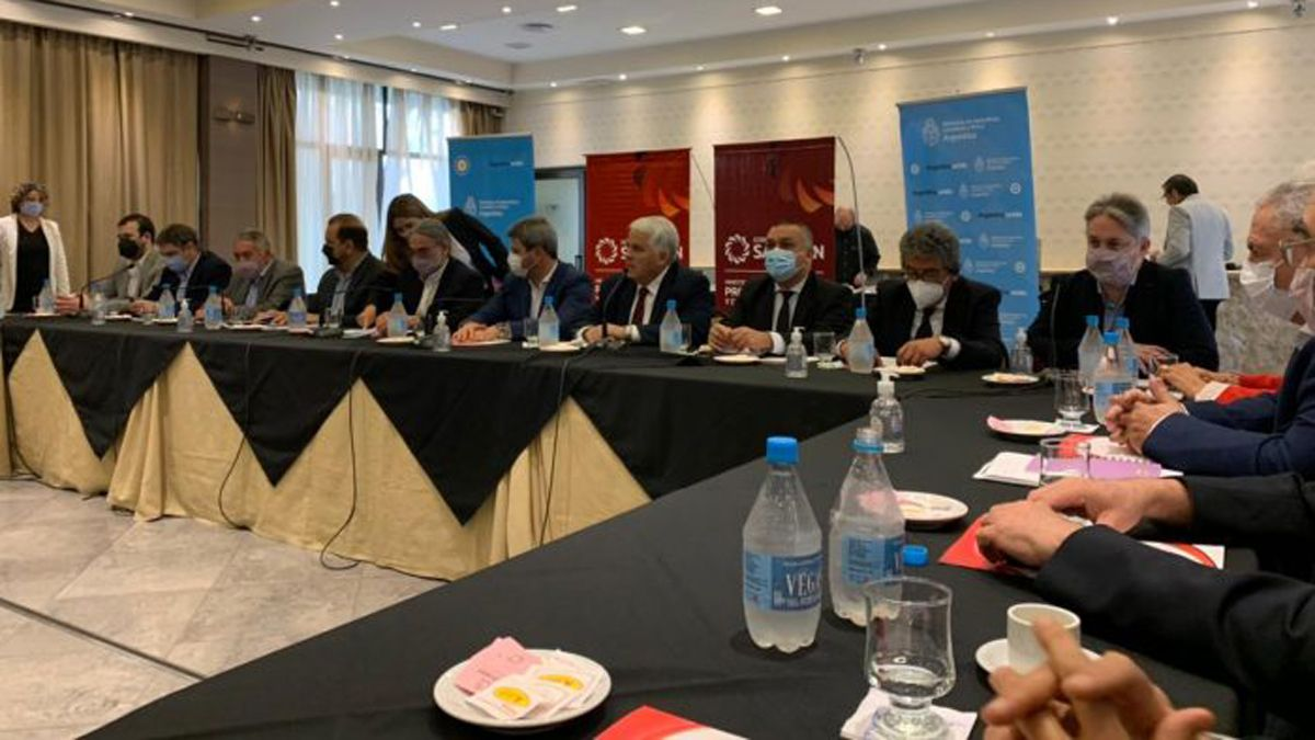 La reunión en San Juan de la que participó el ministro Basterra.