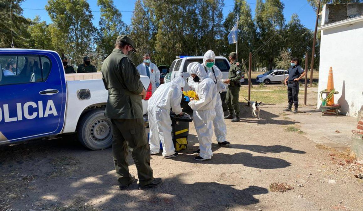 Efectivos de Gendarmería realizaron un allanamiento en el ouesto policial de Teniente Origone